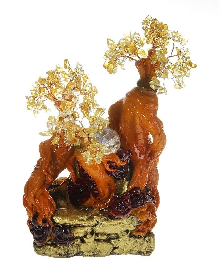 Фонтан-дерево Тайна, янтарный