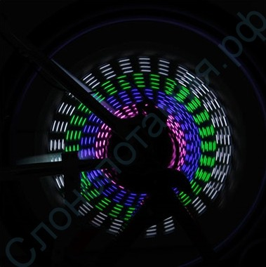Подсветка колес велосипеда 15 рисунков