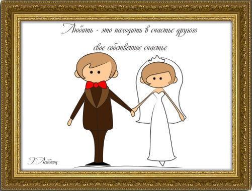 Свадебный плакат Любовь - это...