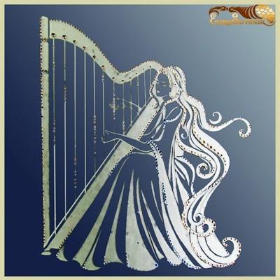 Картина Swarovski Зеркало Струнные мотивы гармонии