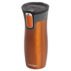 Вакуумный оранжевый термостакан Contigo West Loop