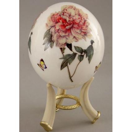 Страусиное яйцо «Розовая роза»