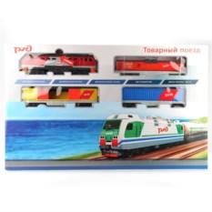 Детская железная дорога Товарный поезд ржд на батарейках