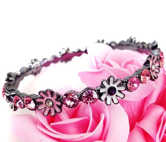 Браслет «Pretty little flowers» (розовый)