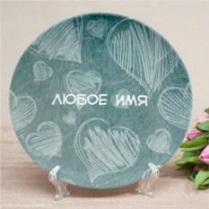 Именная тарелка Обои