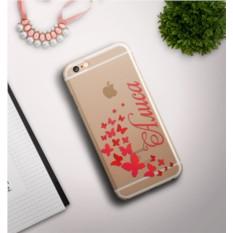Именной чехол для iPhone Бабочки