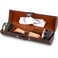 Коричневый набор для чистки обуви Сапфир