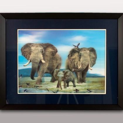 Картина объёмная «Слоны»