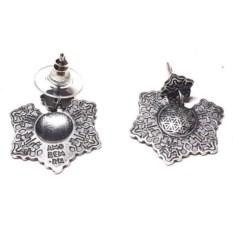 Серьги пусет Цветок жизни, серебро 925