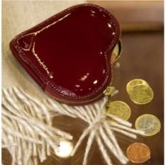Кошелек для монет «Сердце» из телячей кожи.