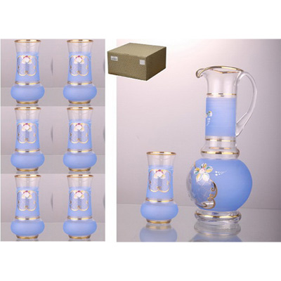 Набор для воды: кувшин + 6 стаканов