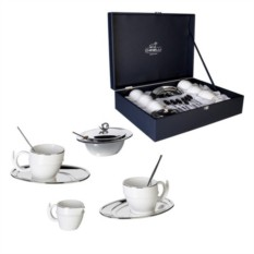 Чайный сервиз Серебряный -завитик на 6 персон