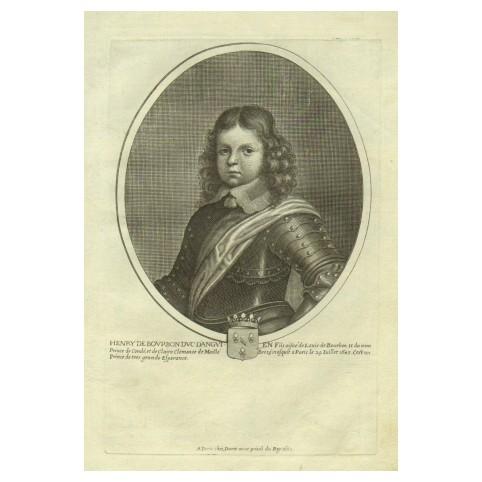 Гравюра «Генрих де Бурбон, герцог де Конде»