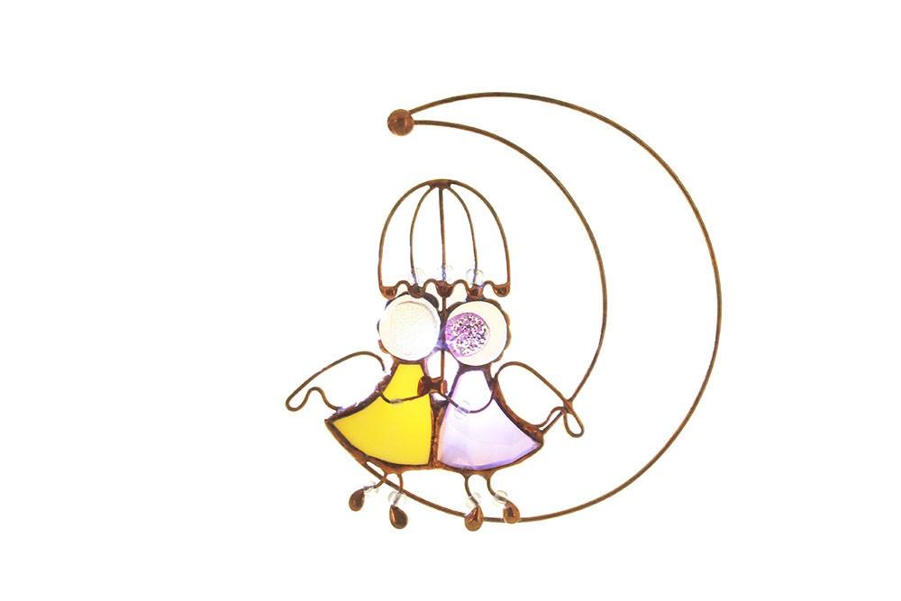 Интерьерная подвеска «Ангелы-подружки»