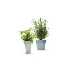 Серый горшок для растений Slim