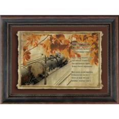 Свиток пергамента Осень. Поезд