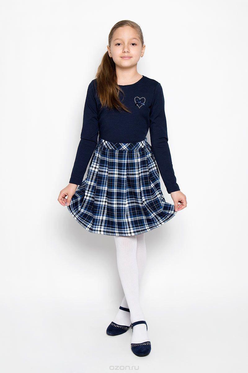 Классическое платье для девочки S'cool