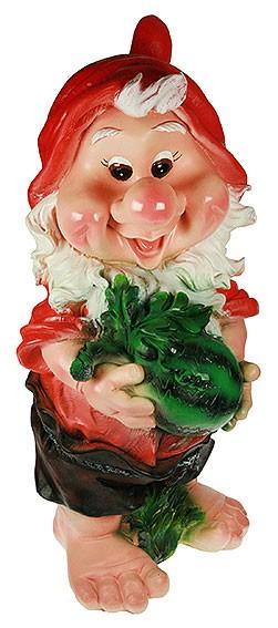 Ландшафтная фигурка Гном с арбузом