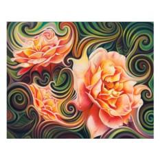Набор для вышивки стразами «Розы в абстракции»