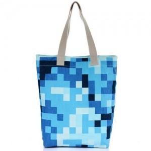 Сумка Синие пиксели
