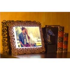 Световая фоторамка с вашей фотографией. Цвет - бронза