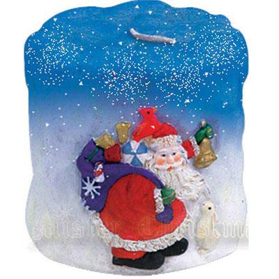 Свеча «Дед мороз со снегом»