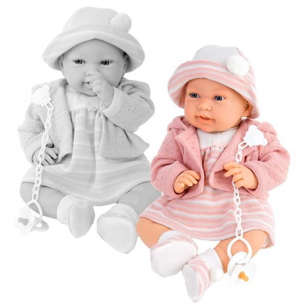 Озвученная кукла-младенец Памела в розовом