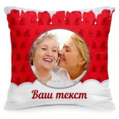 Подушка с фото «Зимние олени»