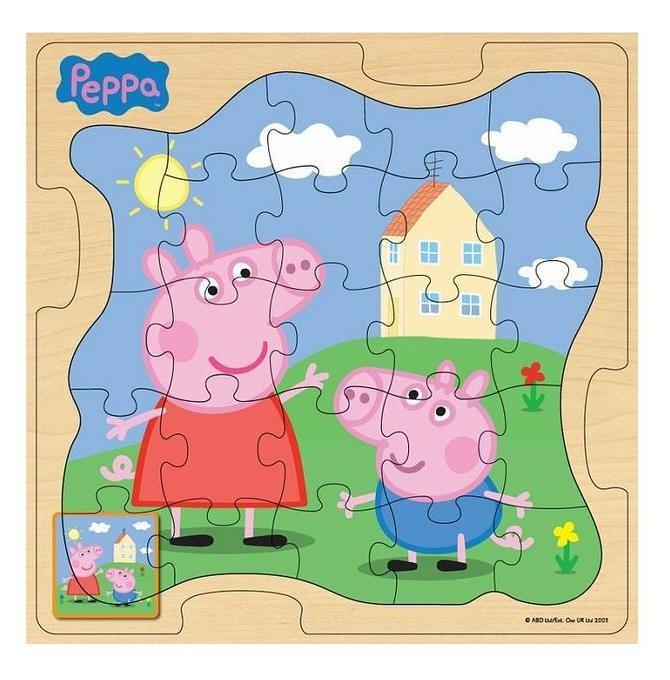 Игровой набор «Пазл У дома», дерево, Peppa Pig