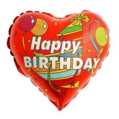 Фольгированный шар-сердце С Днем рождения!