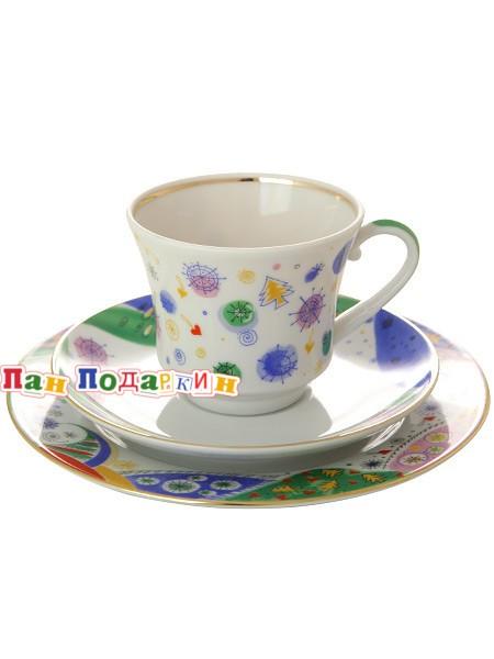 Чайный 3-х предметный комплект Карнавал