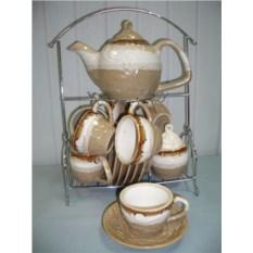 Сервиз чайный из 15 предметов на подставке