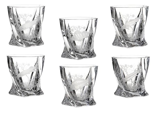 Набор стаканов для виски Рыбалка, 6шт.