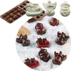 Форма для шоколадных конфет «Зима» EasyChoc Silikomart
