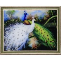 Картина с кристаллами Сваровски Королевские птицы