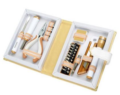 Набор инструментов с фонарем в футляре в виде книги