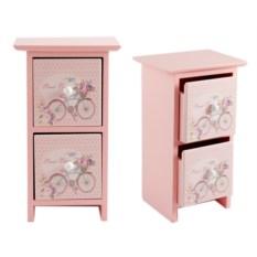 Розовая шкатулка, размер 14 х 11 х 24 см