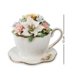 Фарфоровая музыкальная композиция Чашка с цветами