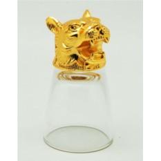 Золотая рюмка-перевертыш Тигр