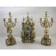 Каминные часы с канделябрами Кафедральные