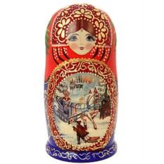 Набор русских матрешек Зимние гуляния