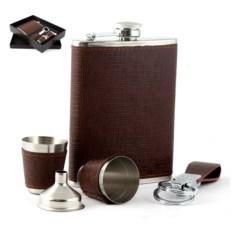 Подарочный набор Фляжка, 2 стаканчика, воронка, брелок