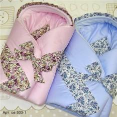 Зимнее одеяло-конверт из сатина для малыша Прованс