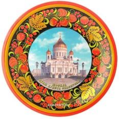 Тарелка-панно с росписью хохлома Храм Христа Спасителя