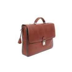 Мужской коричневый портфель из кожи Gianni Conti