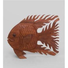 Статуэтка из суарового дерева Золотая рыбка