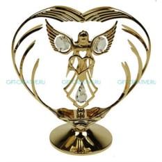 Фигурка с кристаллами Swarovski Ангел с сердцем