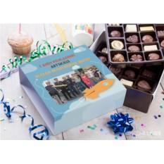 Бельгийский шоколад в подарочной упаковке С днём рождения фирмы!