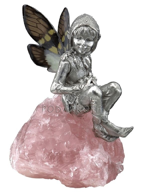 Cтатуэтка эльф розовый кварц