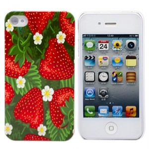 Чехол для iPhone 4/4S Juicy Strawberries